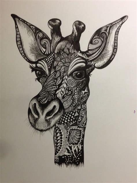 zentangle pattern giraffe giraffe doodle zentangle doodles drawing pinterest
