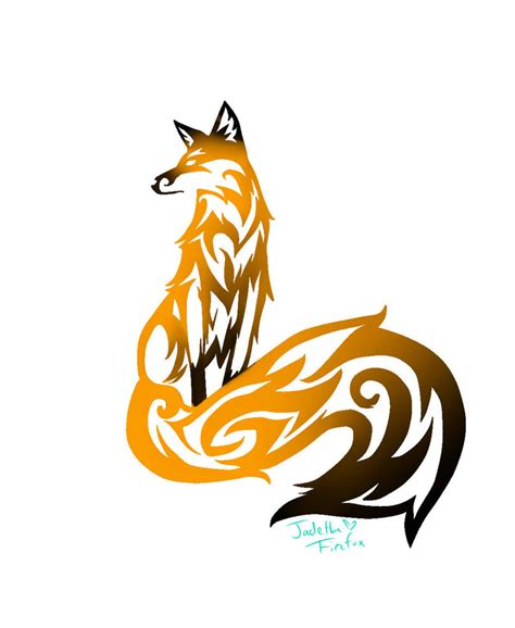 cool tribal fox designs to draw