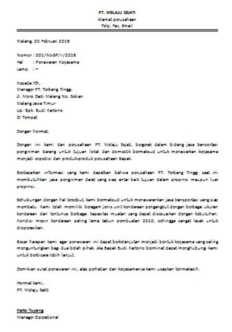 Contoh Surat Permintaan Dalam Usaha by Contoh Surat Permohonan Kerjasama Bisnis Cara Buat Surat