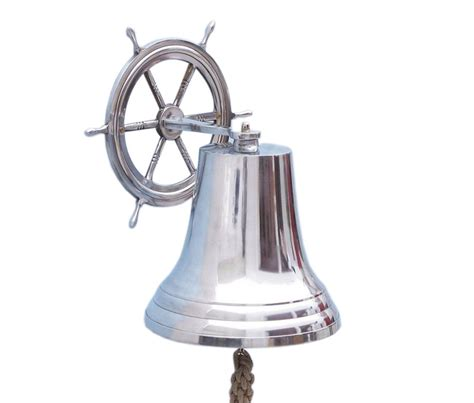 Wholesale Nautical Decor by Buy Chrome Hanging Ship Wheel Bell 18 Inch Wholesale