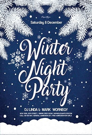 Free Winter Party Flyer Psd Template By Elegantflyer Winter Flyer Template