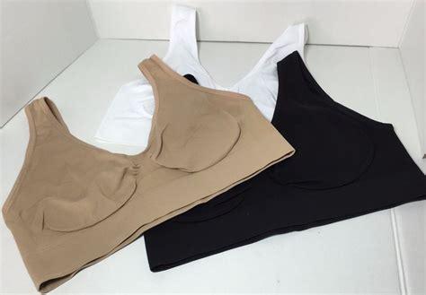 Genie Bra No Pads brand new set of 3 genie style bra sport bra no pads wire