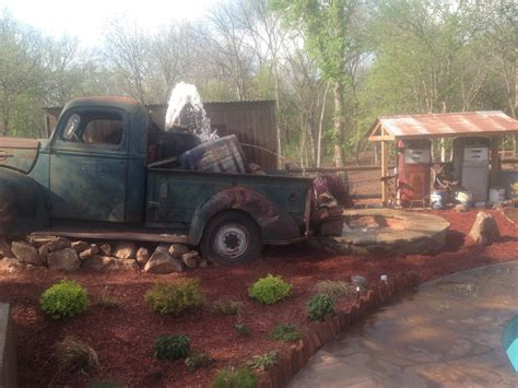 Pictures Of Home Decorations Ideas a homemade ol truck water fountain we created quite the