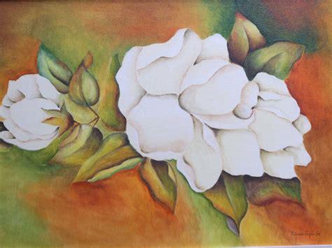 cuadros de rosas blancas pintar rosas blancas al oleo planos cuadros flores