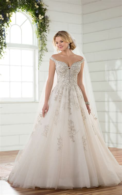wedding dresses   shoulder princess wedding gown