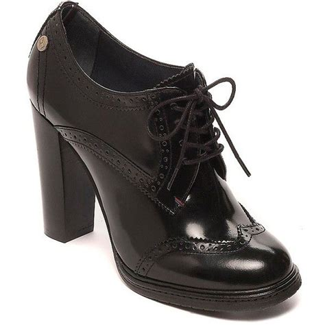 oxford high heel shoes hilfiger heeled brogue 180 liked on polyvore