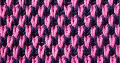 cell stitch knitting the two color stitch pattern is created easily with slip