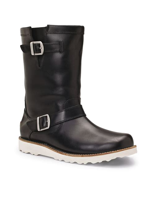 ugg carnero mens pull on boots in black for lyst