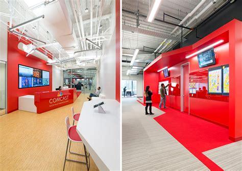 designboom office design design blitz finishes comcast office in red