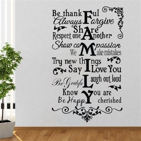 family creative quotes wall sticker words stickers mural decals diy home decor