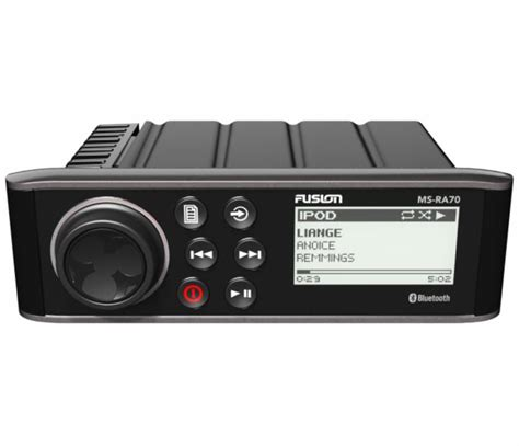 fusion ms ra70 marine stereo am fm w bluetooth tackledirect - Fusion Boat Stereo Review