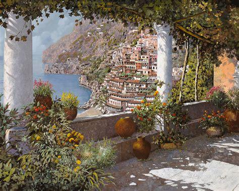 le terrazze positano terrazza a positano painting by guido borelli