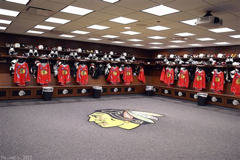 chicago blackhawks dressing room blackhawks locker room flickr photo