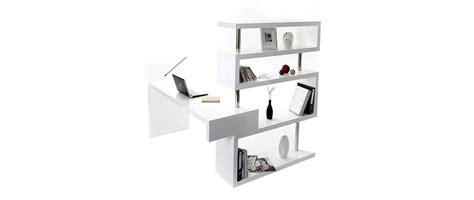 escritorio blanco lacado escritorio de dise 241 o lacado blanco t max miliboo