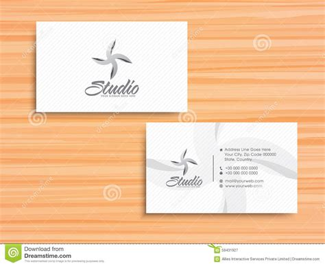 names for card business horizontal business card or visiting card set stock