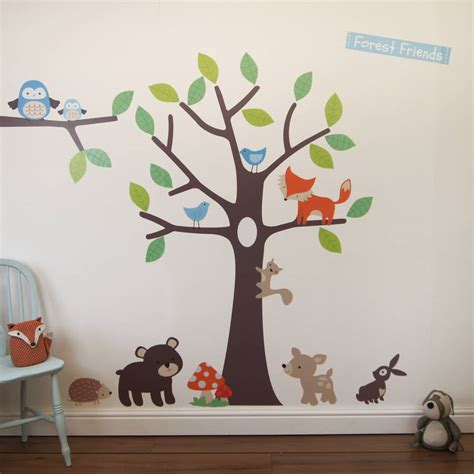 forest wall stickers woodland tree wall stickers by parkins interiors notonthehighstreet