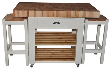 kitchen trolleys and islands butchers block island double overhang version country