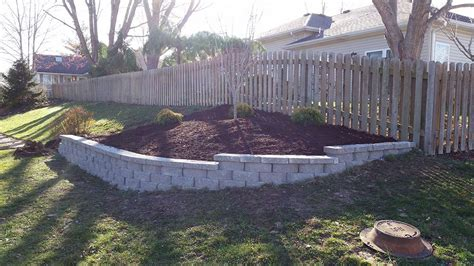 retaining wall flower bed retaining wall for grassless hillside jolly lawncare
