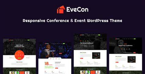 themeforest event evecon responsive event conference wordpress theme