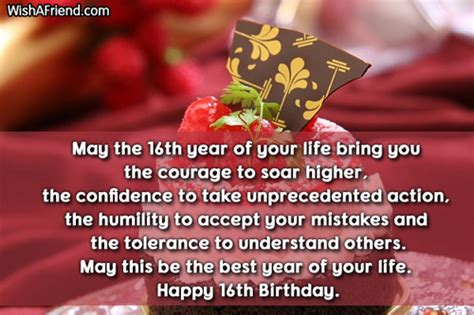Quotes For Sixteenth Birthday 16th Birthday Wishes