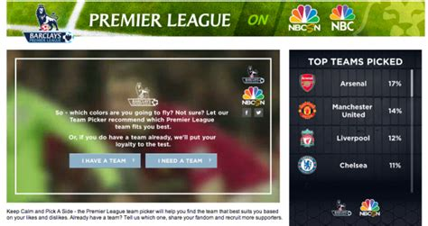 epl on nbc nbc sports launches app to help sports fans pick a premier