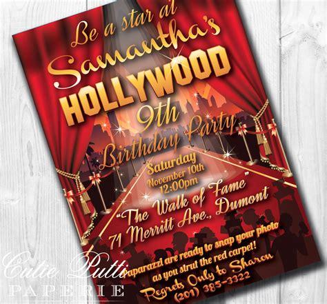 printable hollywood invitation templates hollywood party invitations hollywood invitation hollywood