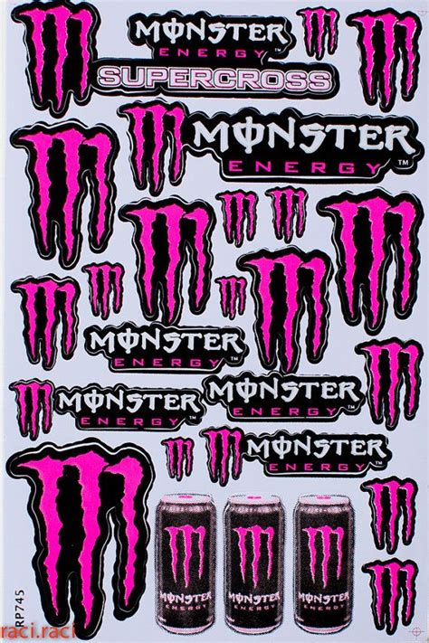 Monster Energy Aufkleber Pink by Pink Monster Energy Claws Sticker Decal Supercross