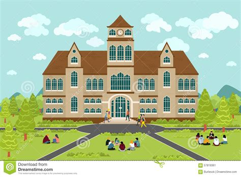 Home Design 3d Roof by University Or College Building Cartoon Vector