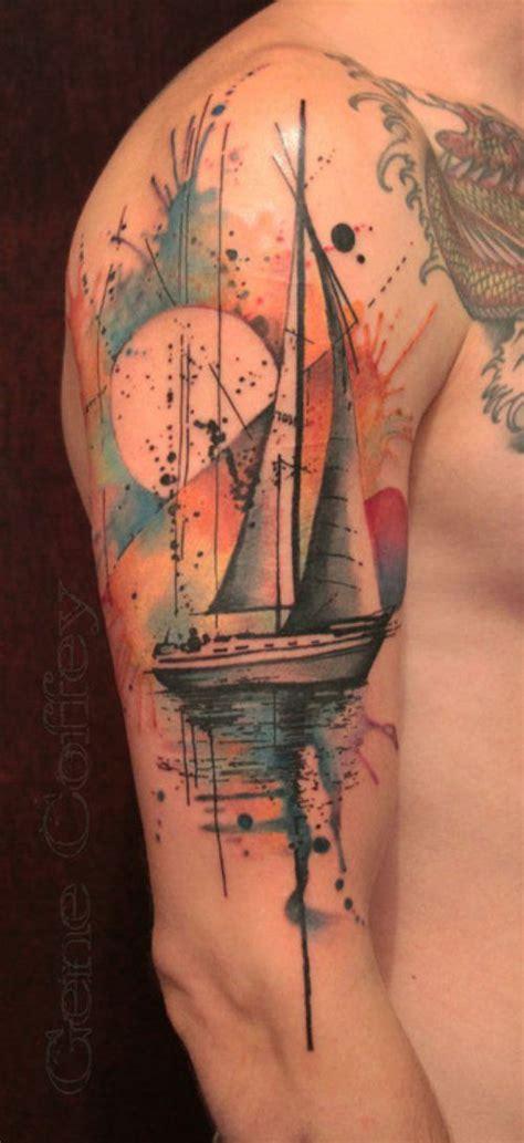 watercolor tattoo design sailboat tattoomagz tattoo