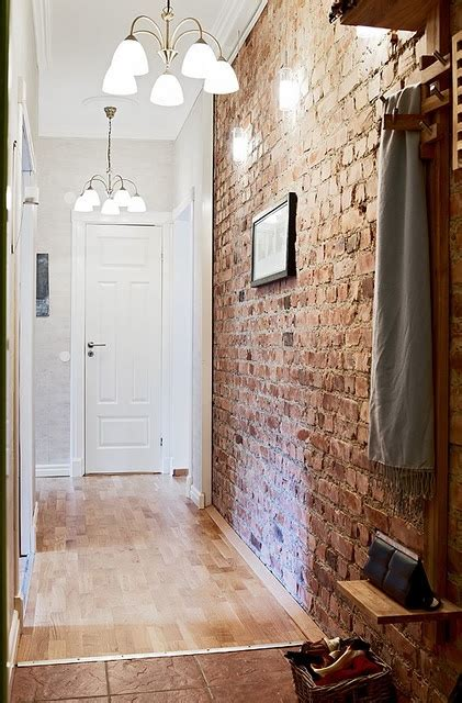 foyer wall brick wall entryway cool home diy ideas