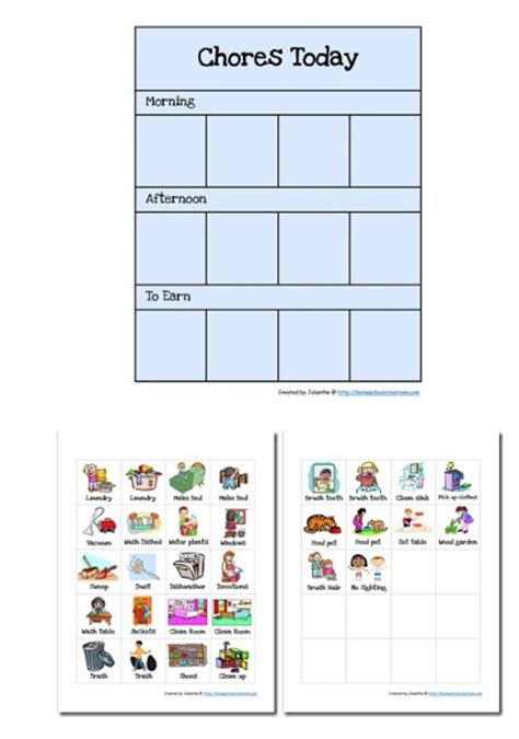 Chore Cards Template by Chore Checklist Printable Preschool Chore Chart
