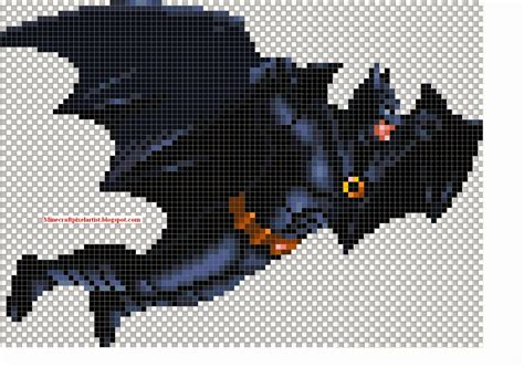 minecraft pixel art templates and tutorials batman