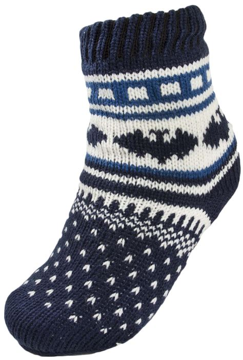 boys slipper socks boys warm fleece lined fairisle slipper socks