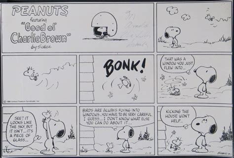 St Snoopy Stripe lot detail charles schulz 1922 2000 signed peanuts