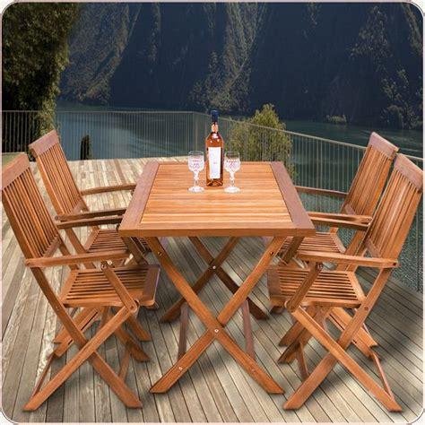table et chaise de jardin en bois ensemble table et 4 chaises de jardin sydney bois achat