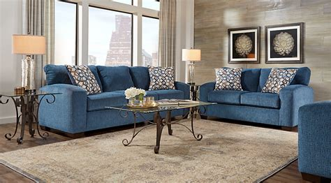 Lucan Navy 5 Pc Living Room Living Room Sets Blue How To Set Furniture For Living Room
