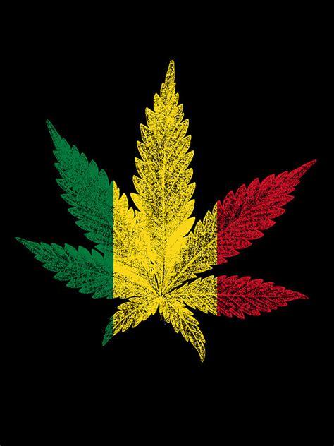 Rasta Home Decor by Quot Rastafari Cannabis Leaf Quot By Bela Manson Redbubble