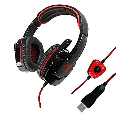 Sades Sa 608 Earphone Headset Gaming With Mic sades sa 901 usb wired stereo 7 1 surround gaming