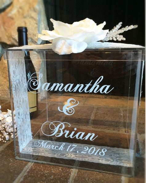 Personalized Wedding Gift Card Box - personalized wedding card box money box wedding gift card