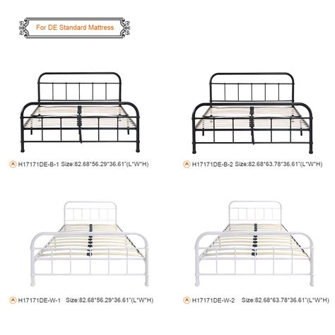 California King Slatted Bed Frame White 4 Ikayaa Metal Platform Bed Frame With Wood Slats California King Size White Lovdock