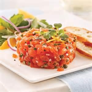 tartare de saumon classique recettes cuisine et