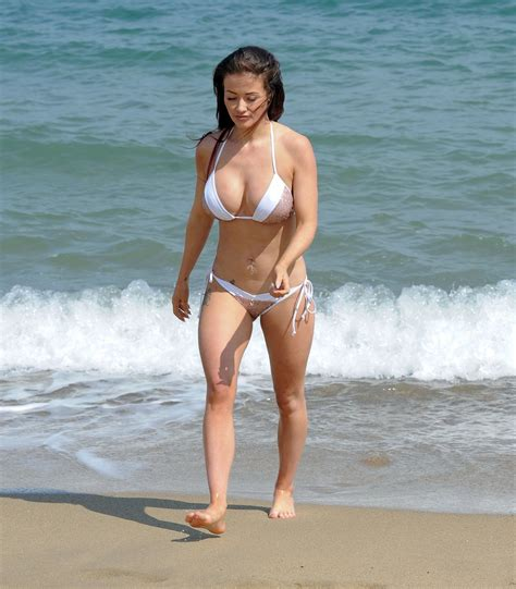 Lotte Moss jess impiazzi in bikini on the beach in spain celeb photos
