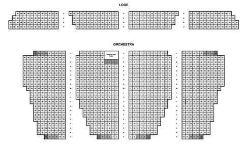 seating chart loge  orchestra yelp