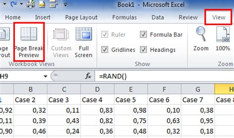 remove page layout lines excel excel insert move and remove page break modify page