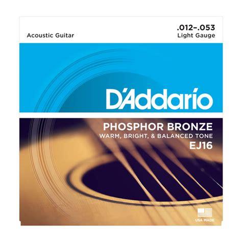 medium light guitar strings d addario strings phosphor bronze wound ej16 phosphor