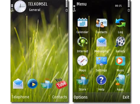themes for mobile phones mobile phones vista grass theme for s60v5