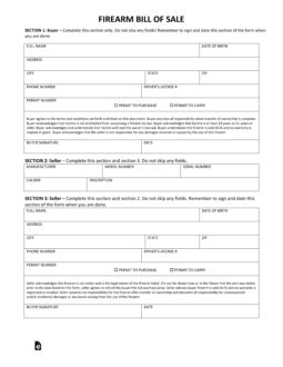 Free Maine Firearm Bill Of Sale Form Pdf Eforms Free Fillable Forms Free Bill Of Sale Template Ga