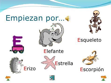 imagenes de palabras que empiezan con e aprendo las vocales