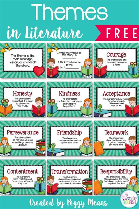 theme definition moral chickens primary flourish anchors literature and posters