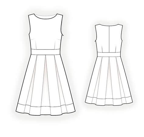 dress pattern draw sleeveless dress sewing pattern 4278 made to measure